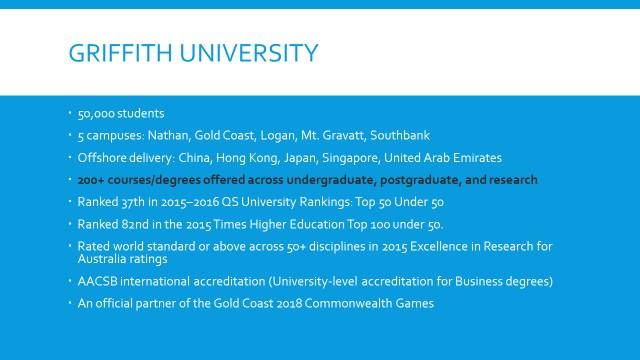 Griffith Uni slide