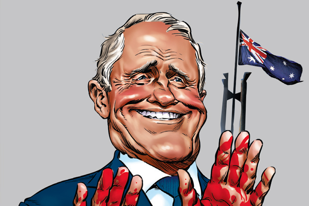 Turnbull blood on his hands