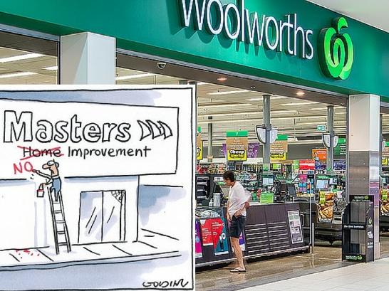 Illustration: Matt Golding (Sydney Morning Herald) Image: Woolworths store Spring Centre